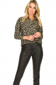 Les Favorites |  Leopard print blouse Fien | animal print  | Picture 4
