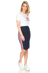 Zoe Karssen |  Sportive skirt Tuxedo | dark blue  | Picture 3