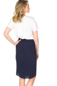 Zoe Karssen |  Sportive skirt Tuxedo | dark blue  | Picture 5