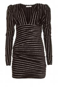 Silvian Heach    Dress with lurex stripes Lakit   black    Picture 1