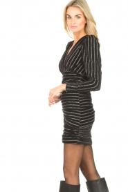 Silvian Heach    Dress with lurex stripes Lakit   black    Picture 7