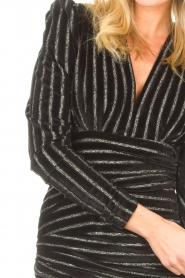 Silvian Heach    Dress with lurex stripes Lakit   black    Picture 6