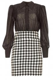 Silvian Heach |  Pied de poule dress Ottora | black  | Picture 1