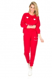 Zoe Karssen |  Sweatpants Le Happy | red  | Picture 3
