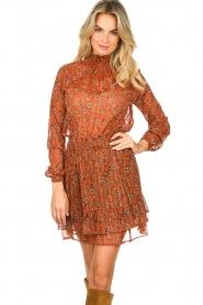 Les Favorites |  Print skirt Marli | brown  | Picture 2