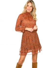 Les Favorites |  Print skirt Marli | brown  | Picture 5