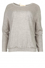Les Favorites |  Sweater with draped back Viv | grey  | Picture 1