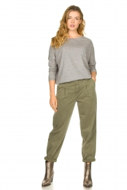 Les Favorites |  Sweater with draped back Viv | grey  | Picture 3