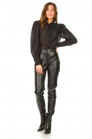 Silvian Heach    Blouse with lurex details Legitim   black    Picture 3