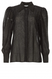 Silvian Heach |  Blouse with lurex details Legitim | black  | Picture 1