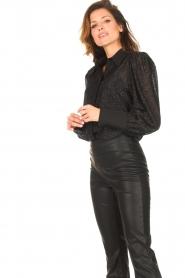 Silvian Heach |  Blouse with lurex details Legitim | black  | Picture 5