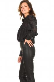 Silvian Heach |  Blouse with lurex details Legitim | black  | Picture 6