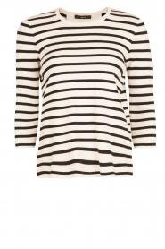 Set | Gestreepte trui Kate | zwart/wit  | Afbeelding 1
