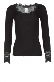 Rosemunde | Luxe basic top | zwart  | Afbeelding 1