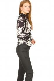 Silvian Heach |  Top with tie dye print Lakplat | black  | Picture 5