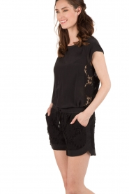Style Butler |  Silk shorts Azalea | black  | Picture 2