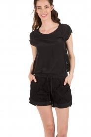 Style Butler |  Silk shorts Azalea | black  | Picture 4