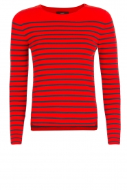 Set | Gestreepte trui Davon | rood/donkerblauw  | Afbeelding 1