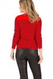 Set | Gestreepte trui Davon | rood/donkerblauw  | Afbeelding 4