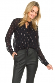 Dante 6 |  Blouse with glitters Ellery | black  | Picture 4