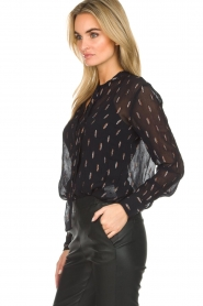 Dante 6 |  Blouse with glitters Ellery | black  | Picture 5