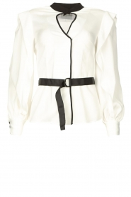 Silvian Heach |  Top with open detail Aikut | white  | Picture 1