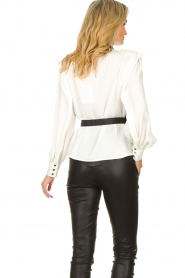 Silvian Heach |  Top with open detail Aikut | white  | Picture 7