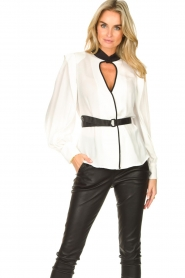 Silvian Heach |  Top with open detail Aikut | white  | Picture 2