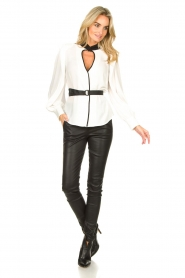 Silvian Heach |  Top with open detail Aikut | white  | Picture 3