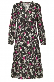 Les Favorites |  Printed maxi dress Ella | black  | Picture 1