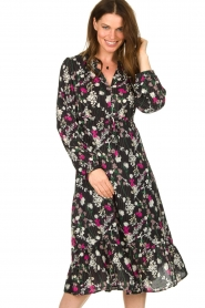 Les Favorites |  Printed maxi dress Ella | black  | Picture 2