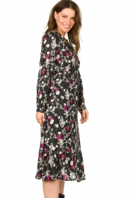 Les Favorites |  Printed maxi dress Ella | black  | Picture 5