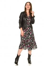 Les Favorites |  Printed maxi dress Ella | black  | Picture 3