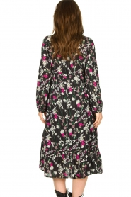 Les Favorites |  Printed maxi dress Ella | black  | Picture 6