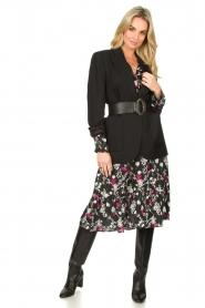 Les Favorites |  Printed midi dress Ella | black  | Picture 3