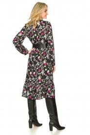 Les Favorites |  Printed midi dress Ella | black  | Picture 6
