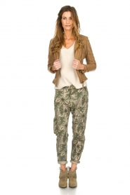 MASONS |  Printed cargo trousers Asia Snake | green  | Picture 3