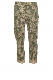 MASONS |  Printed cargo trousers Asia Snake | green  | Picture 1
