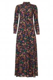Les Favorites |  Printed maxi dress Mirjam | black  | Picture 1