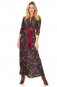 Les Favorites |  Printed maxi dress Mirjam | black  | Picture 2
