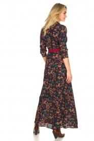 Les Favorites |  Printed maxi dress Mirjam | black  | Picture 6