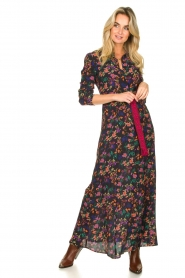 Les Favorites |  Printed maxi dress Mirjam | black  | Picture 3