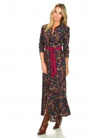 Les Favorites |  Printed maxi dress Mirjam | black  | Picture 4