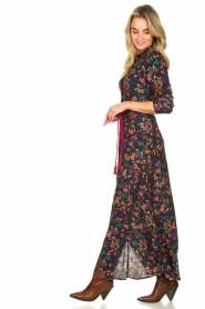 Les Favorites |  Printed maxi dress Mirjam | black  | Picture 5