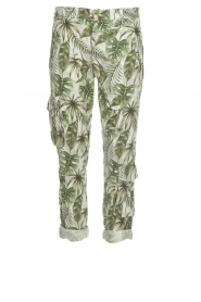 MASONS |  Printed cargo trousers Asia Snake | wit  | Picture 1