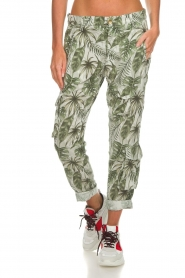MASONS |  Printed cargo trousers Asia Snake | wit  | Picture 2