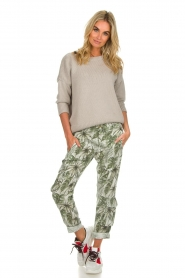 MASONS |  Printed cargo trousers Asia Snake | wit  | Picture 3