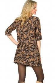 Les Favorites    Paisley print dress Flori   brown    Picture 6