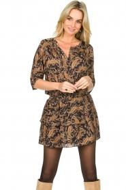 Les Favorites    Paisley print dress Flori   brown    Picture 4