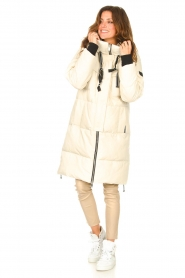 Silvian Heach |  Long down jacket Bodax | natural  | Picture 3